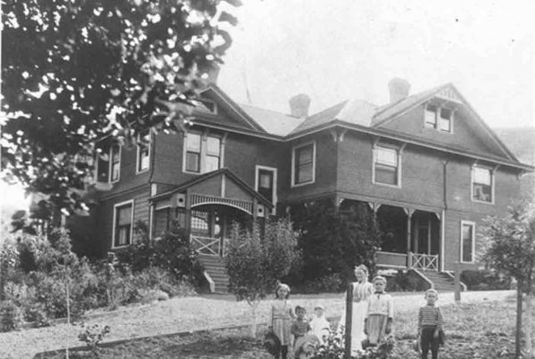The Allen Family at the Hawthorn House (G.T. White, 1893, Town of Portola Valley Collection)